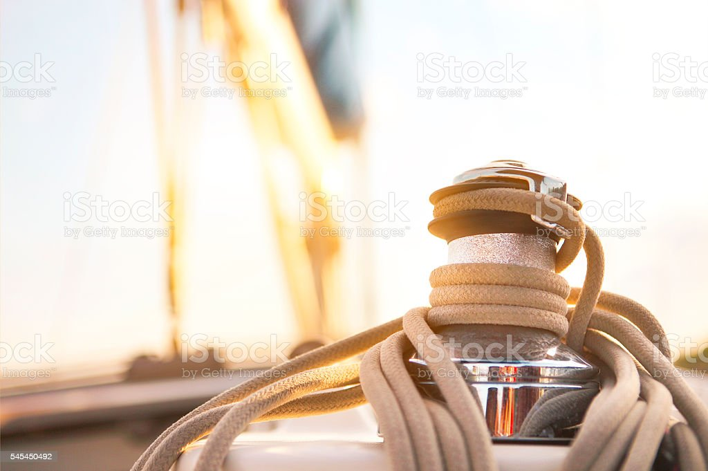 Sailboat detailed parts. Yachting concept - Lizenzfrei Ausrüstung und Geräte Stock-Foto