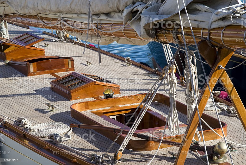 Sailboat details royalty-free stock photo
