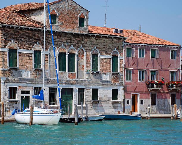 Sailboat Dock Venice stock photo