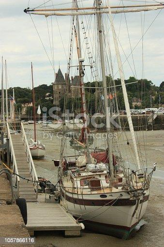 Sailboat docked in Bretagne France