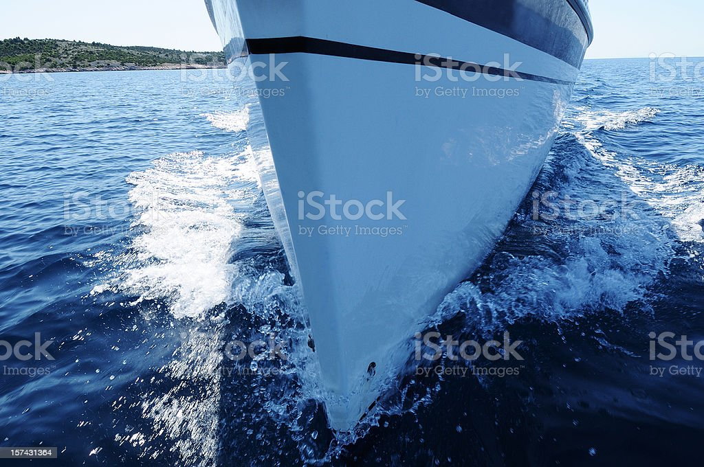 Sailboat front view stock photo