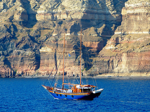 Santorini is the largest active volcano in the world.