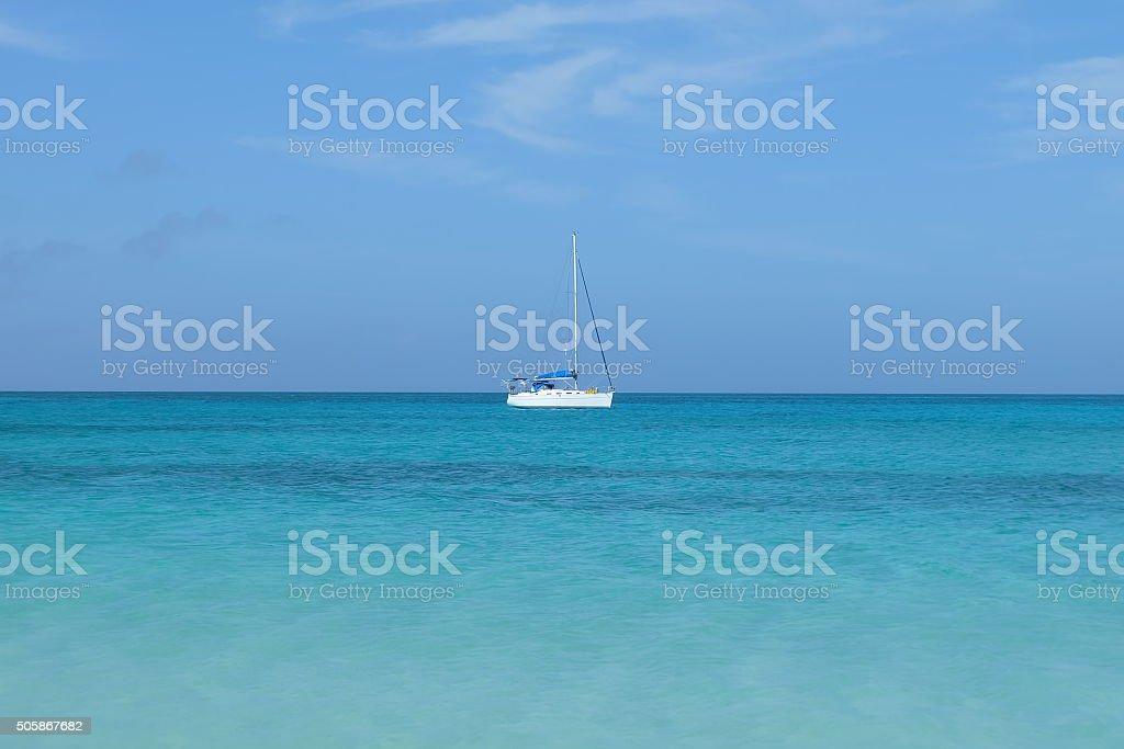 Sailboat in Bimini stock photo