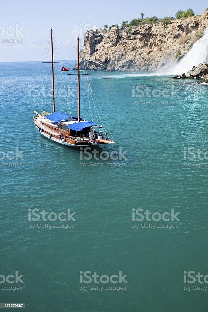 Segelboot in paradise Lagune – Foto