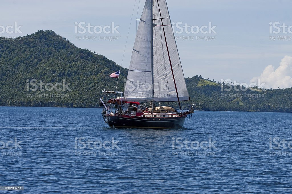 Sailboat in Philippines royalty-free stock photo