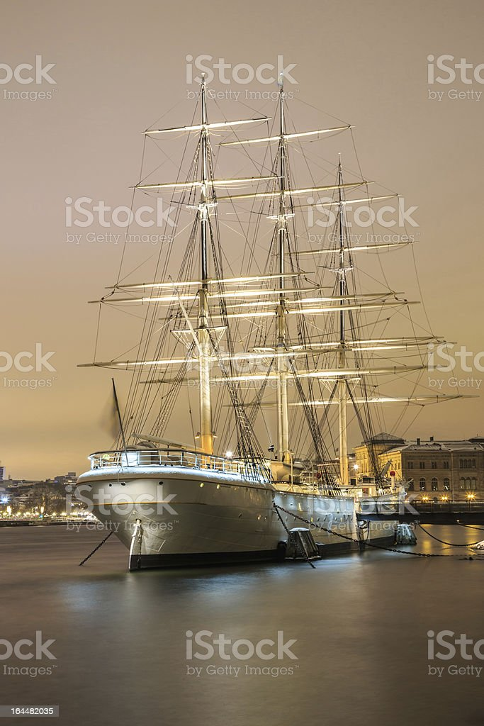 Sailboat in Stockholm Sweden royalty-free stock photo