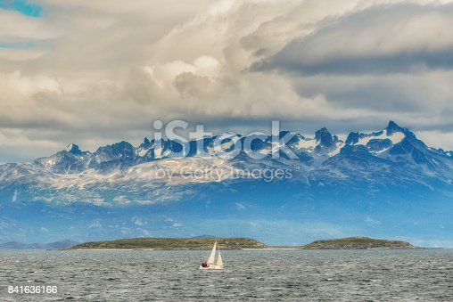 istock Sailboat in the Beagle Channel near the Ushuaia. Tierra del Fuego province in Argentina 841636166