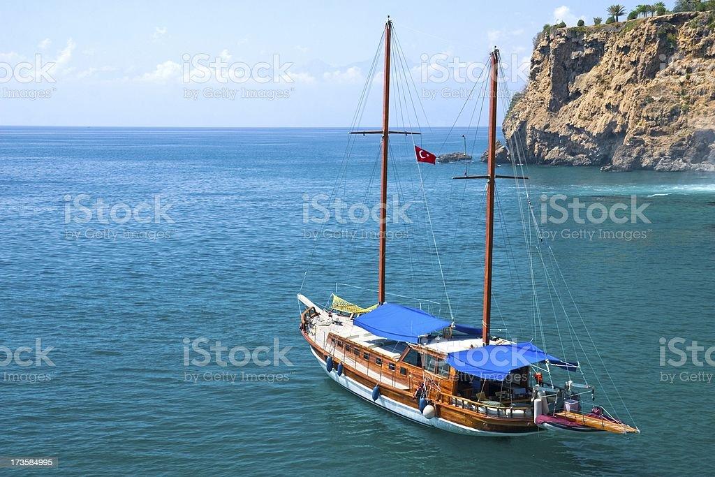 Segelboot in der Lagune – Foto