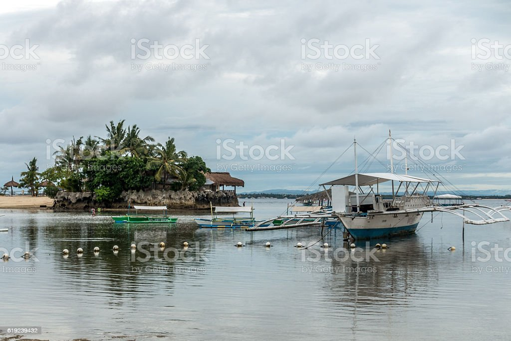 Sailboat in the Philippines. stock photo
