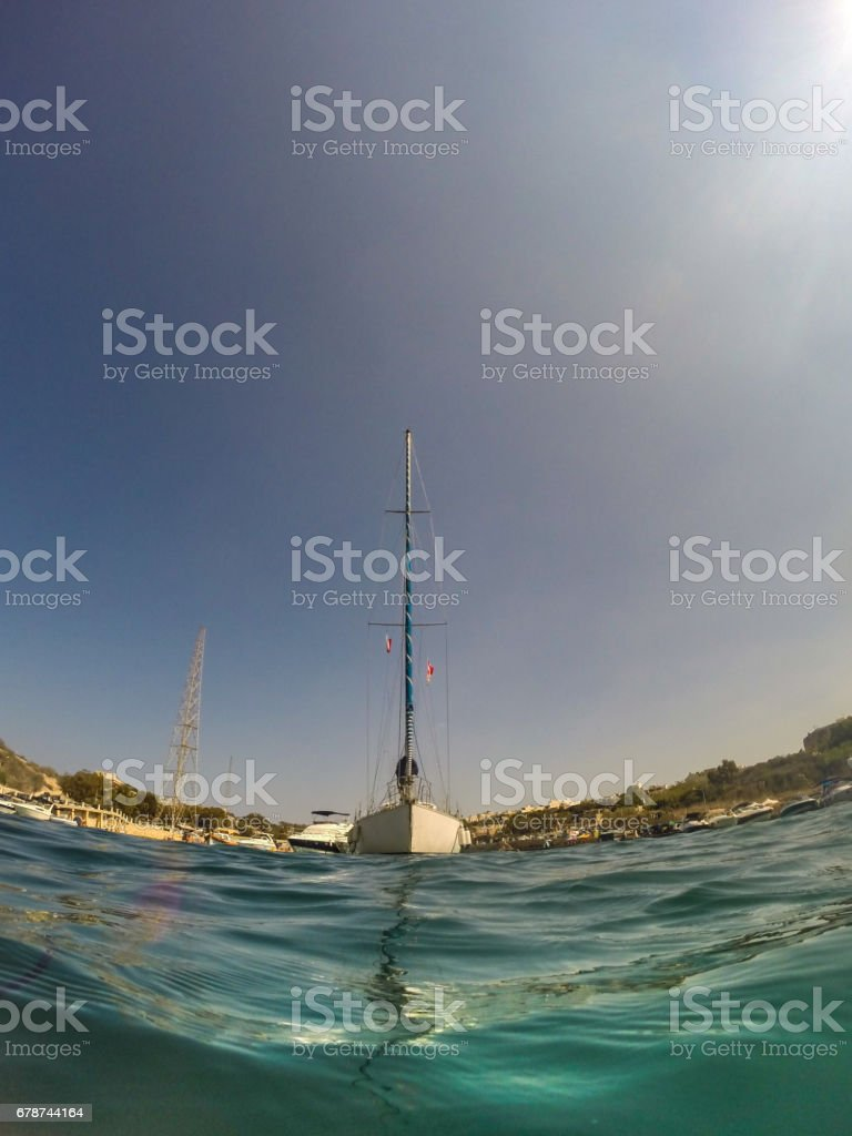 Sailboat - Low angle view royalty-free stock photo