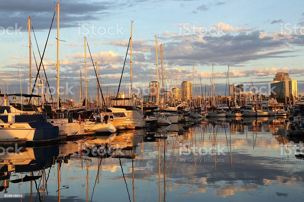 Sailboat Marina stock photo