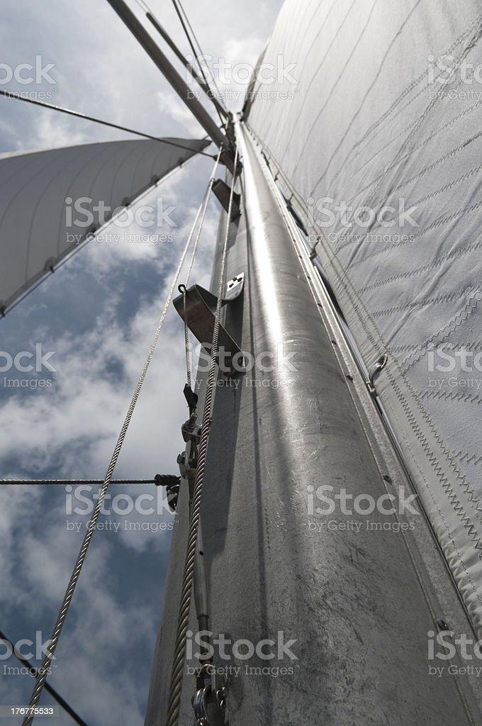 Sailboat Mast royalty-free stock photo