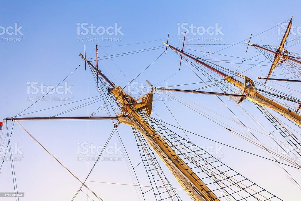 Sailboat masts royalty-free stock photo