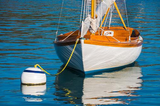 Sailboat on Mooring Ball