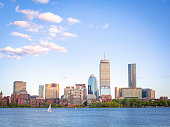 Boston city scenery in Summer