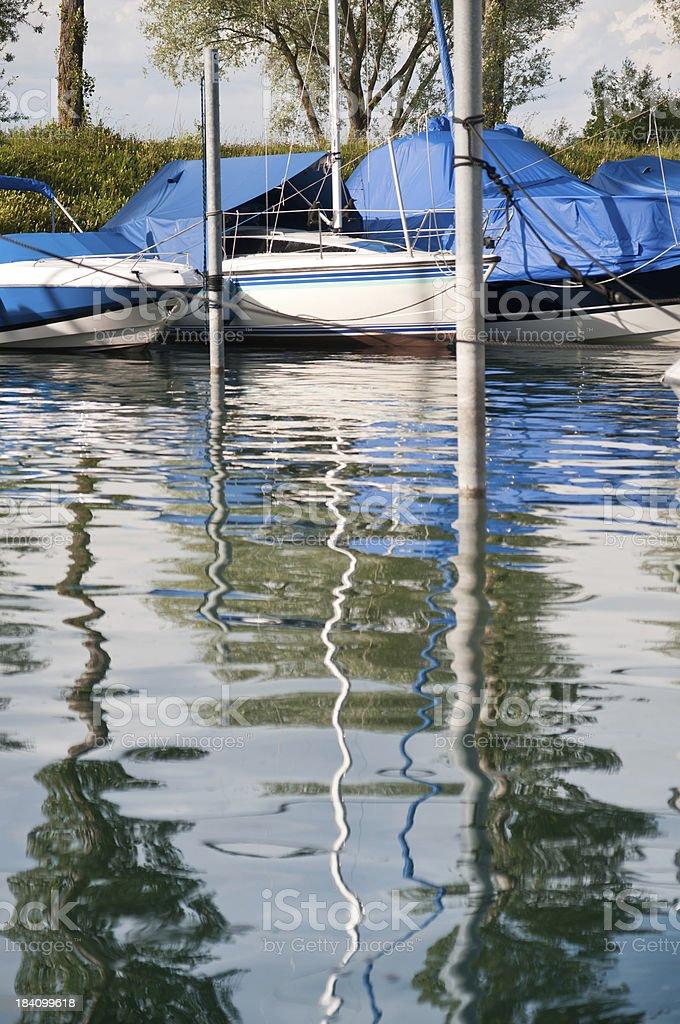 sailboat parked in natural matina royalty-free stock photo