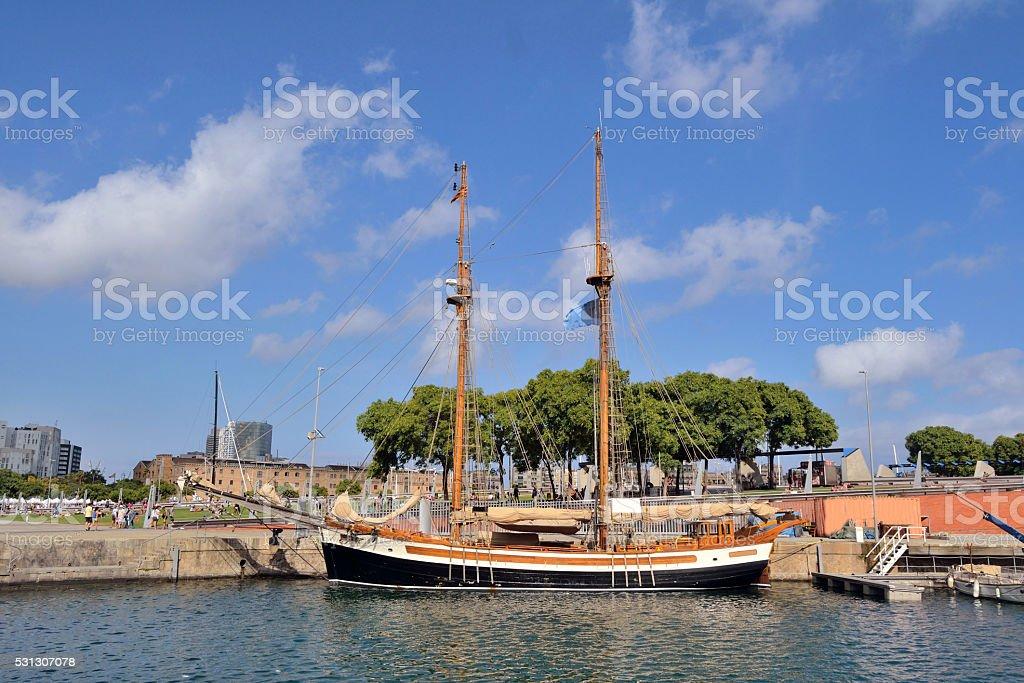 Sailboat. stock photo