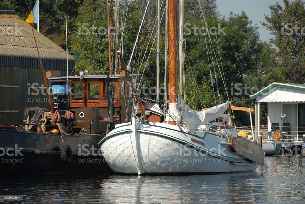 Barca a vela foto stock royalty-free