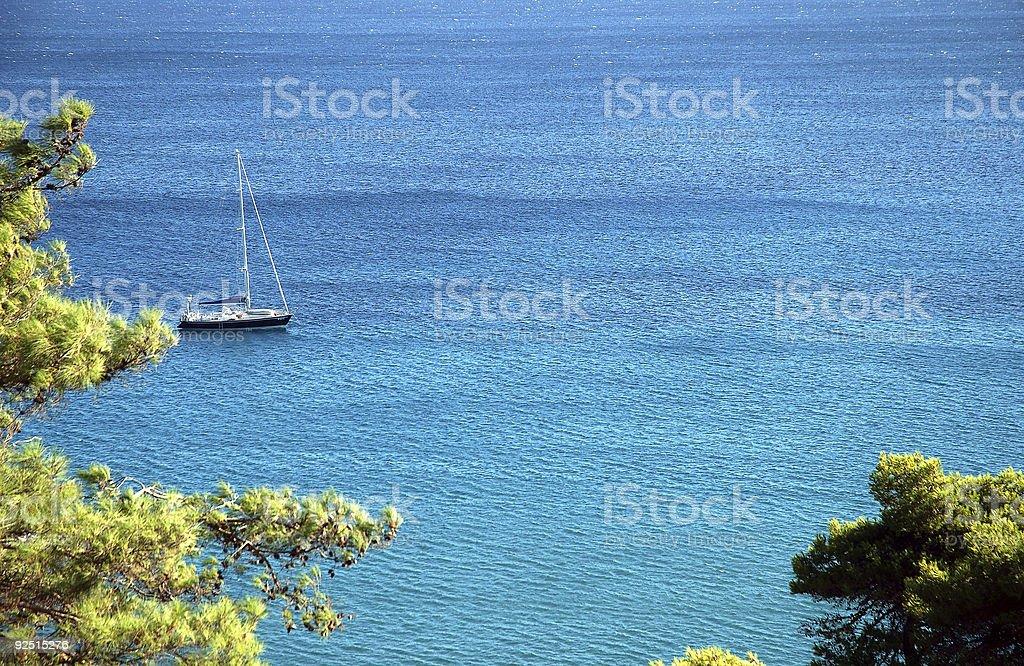 Sailboat royalty-free stock photo