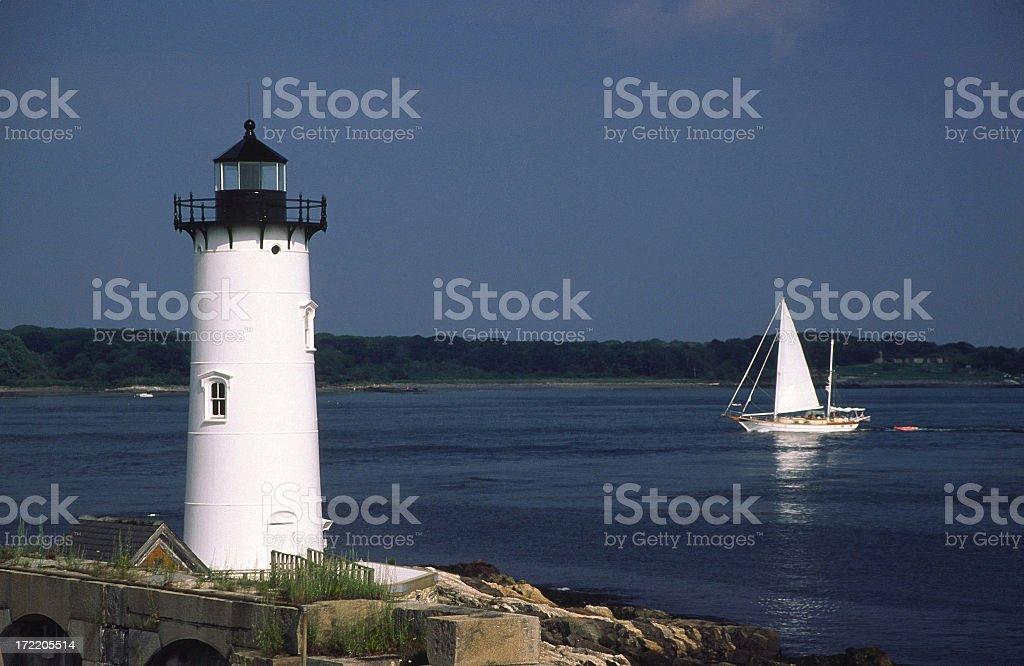 Sailboat Portsmouth New Hampshire royalty-free stock photo