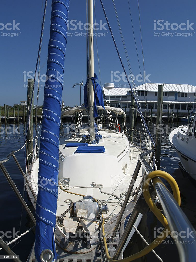 Sailboat Rigging royalty-free stock photo