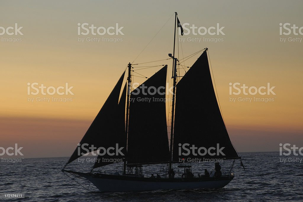 Sailboat silhouette royalty-free stock photo