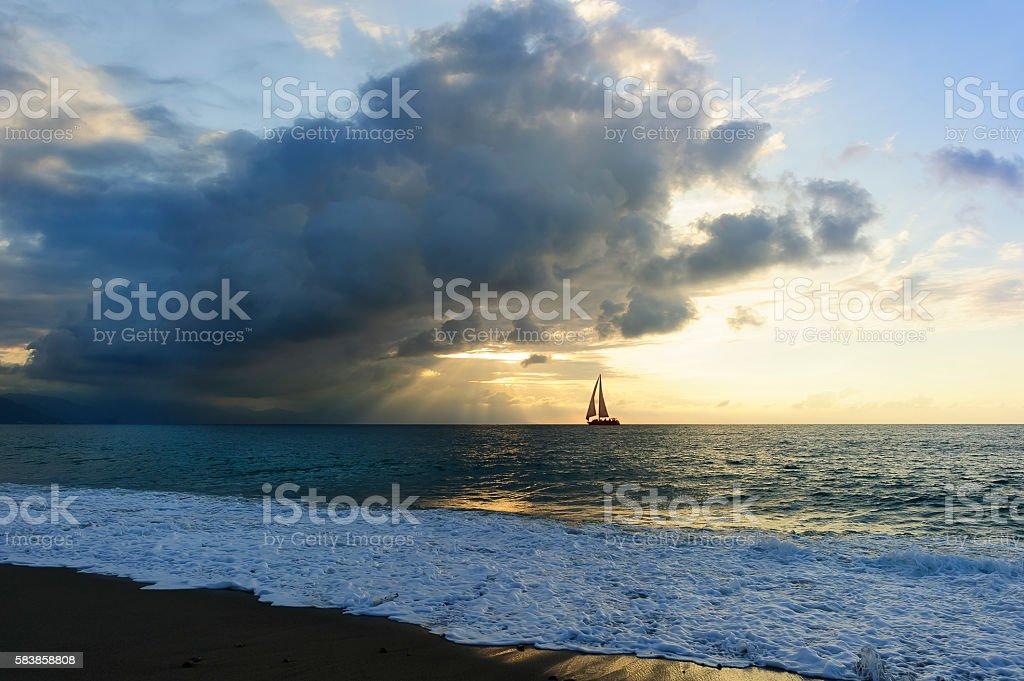 Silhouette de voilier - Photo