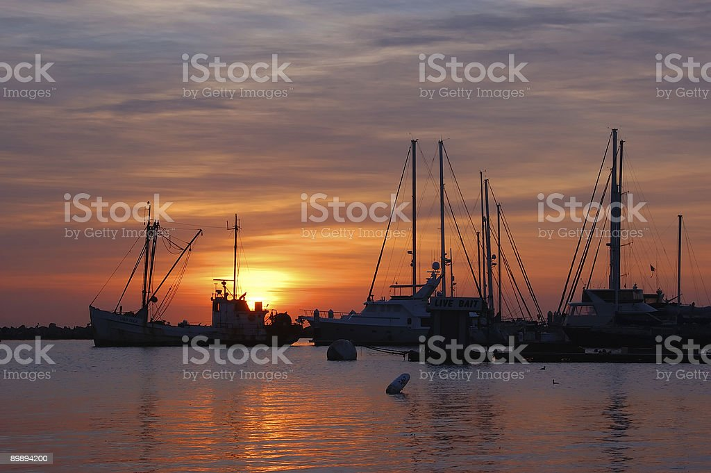 Sailboat Silhouette royalty-free stock photo