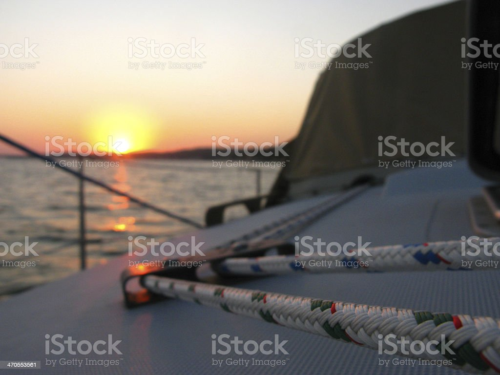 Sailboat Sunset royalty-free stock photo