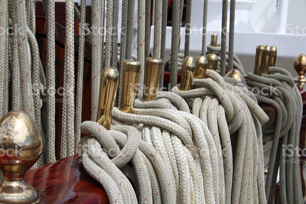 Sailboat tack royalty-free stock photo