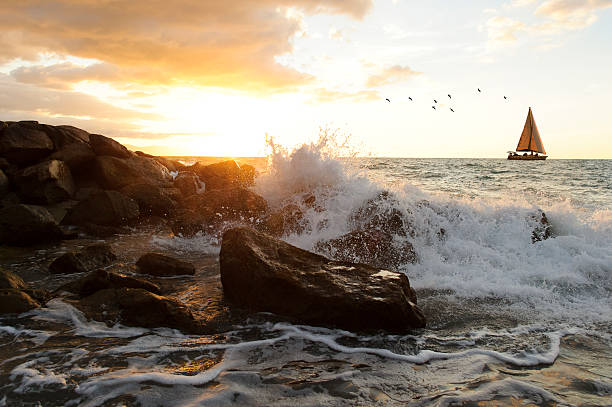 Sailboat Waves - Photo
