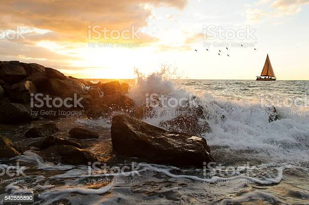 Photo of Sailboat Waves