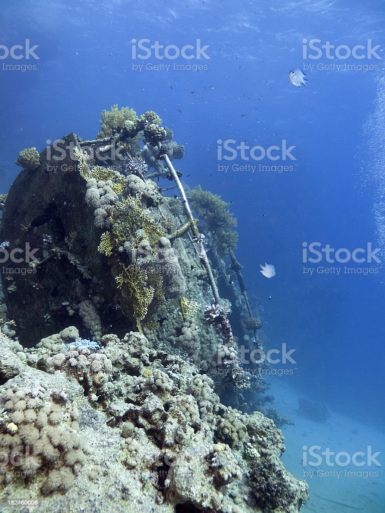 sailboat wreck in the Red Sea royalty-free stock photo