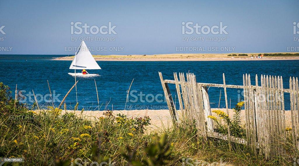 Sailboating Nantucket stock photo