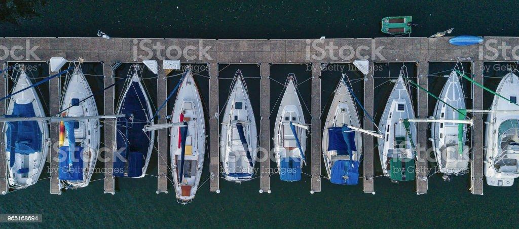 Sailboats Docked on The Lake royalty-free stock photo
