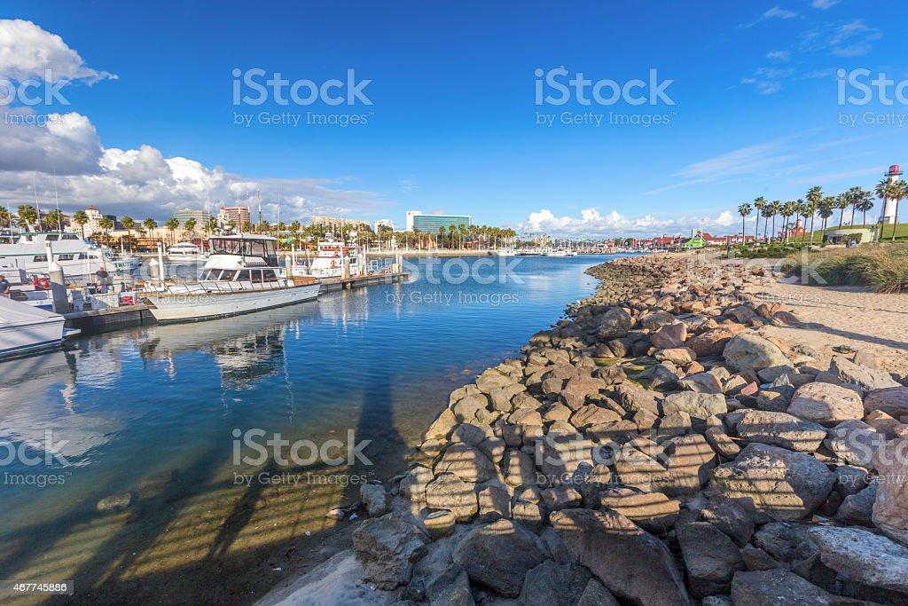 Sailboats in Long Beach Marina stock photo