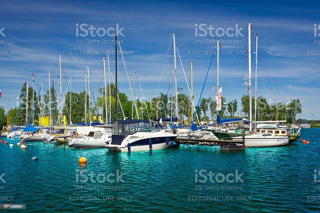 Sailboats in Marina, Szczecin royalty-free stock photo
