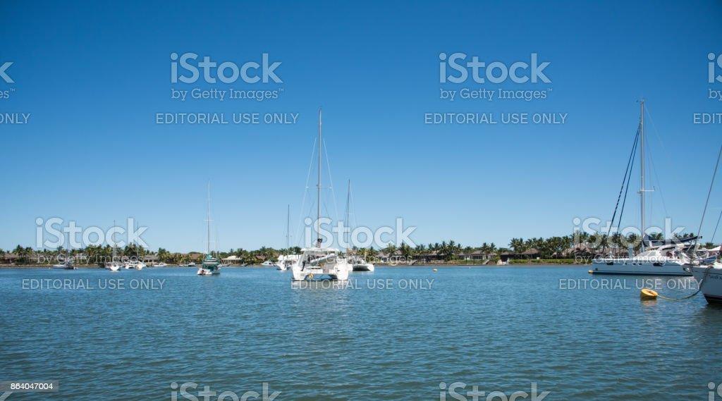 Sailboats in Port Denarau stock photo