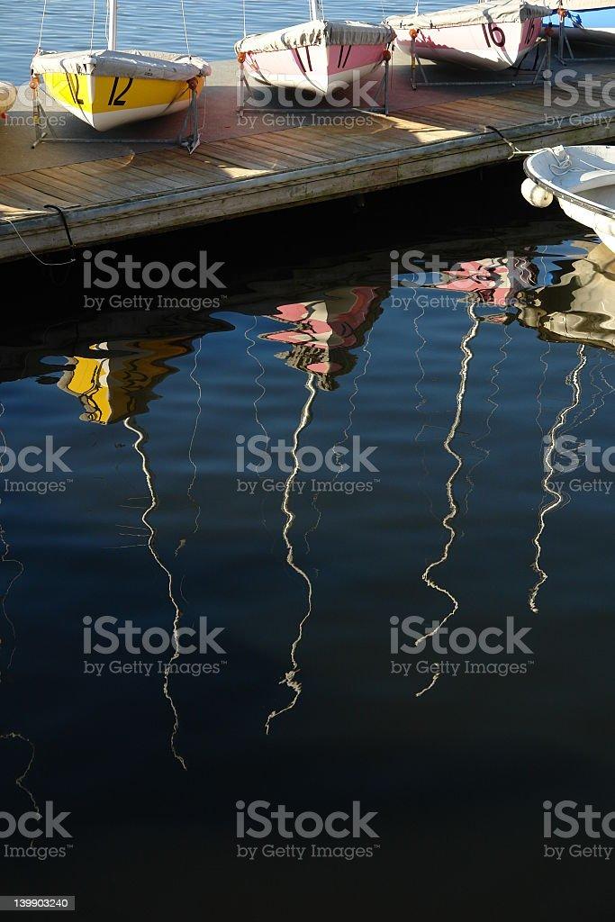 sailboats in waiting royalty-free stock photo