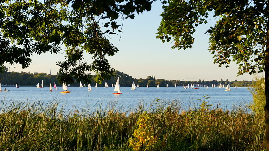 sailboats on alster lake