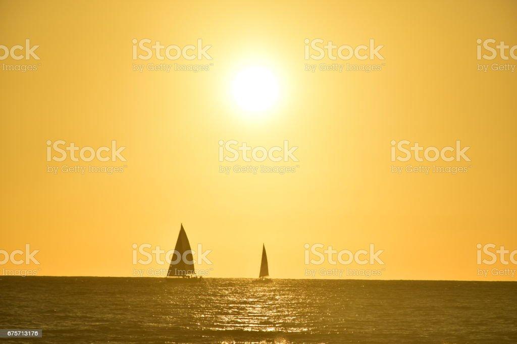 Sailboats on the ocean 免版稅 stock photo