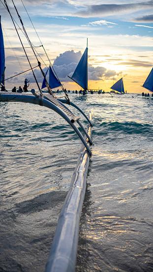 sailboats on the sea boracay