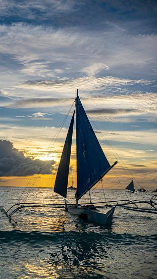 sailboats on the sea