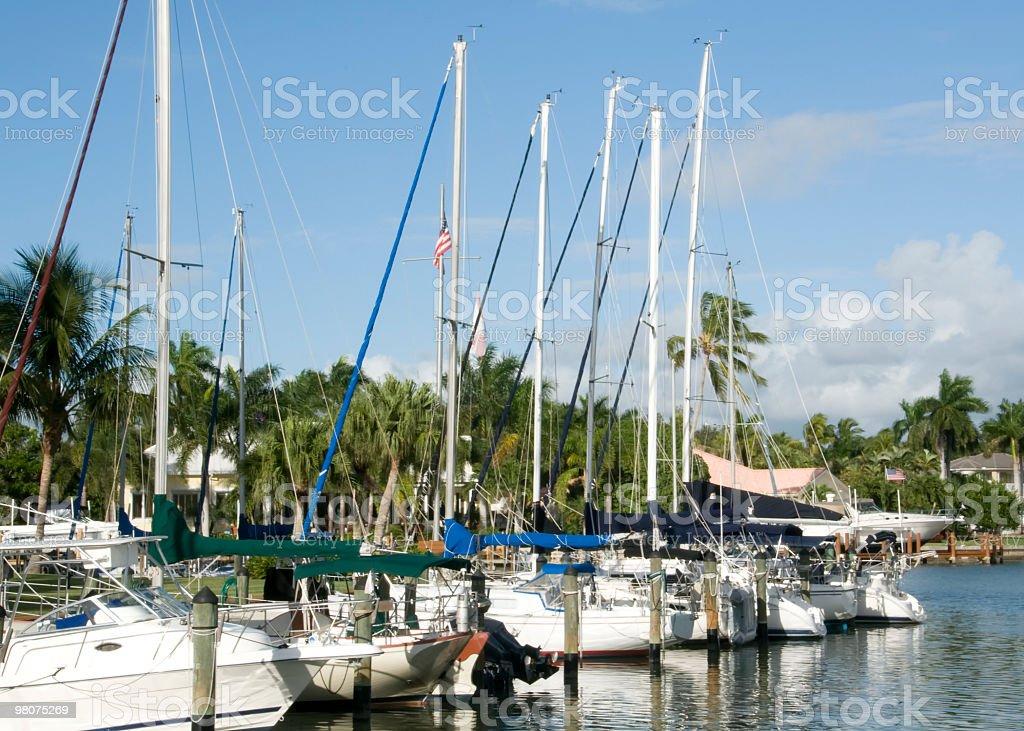 Barche a vela foto stock royalty-free