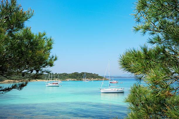 Segelboote an der französischen Riviera – Foto