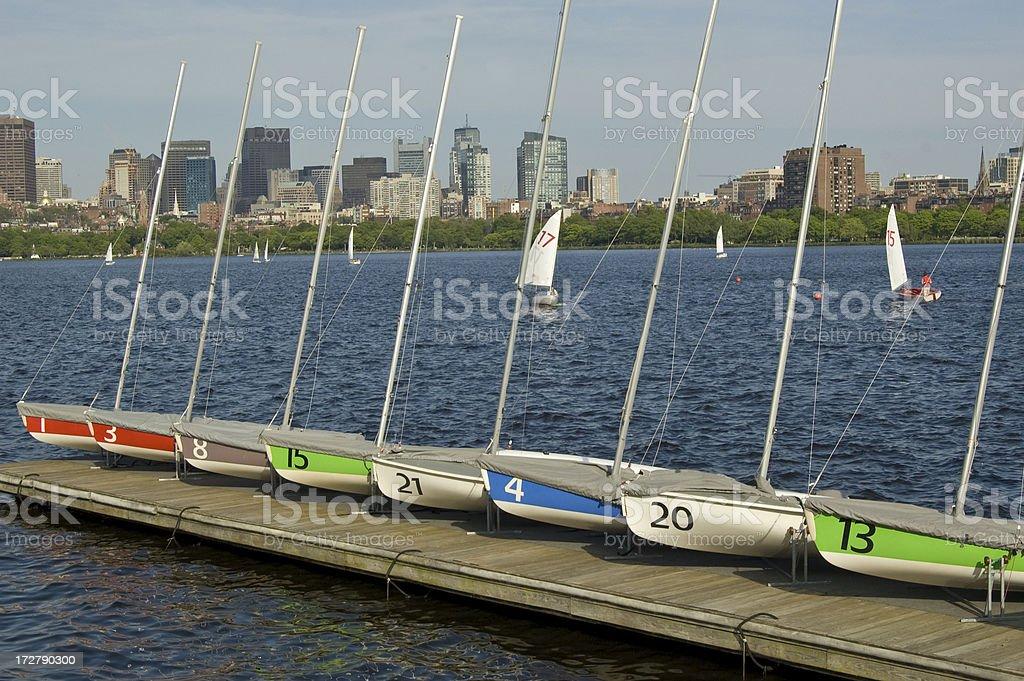Sailboats Waiting royalty-free stock photo