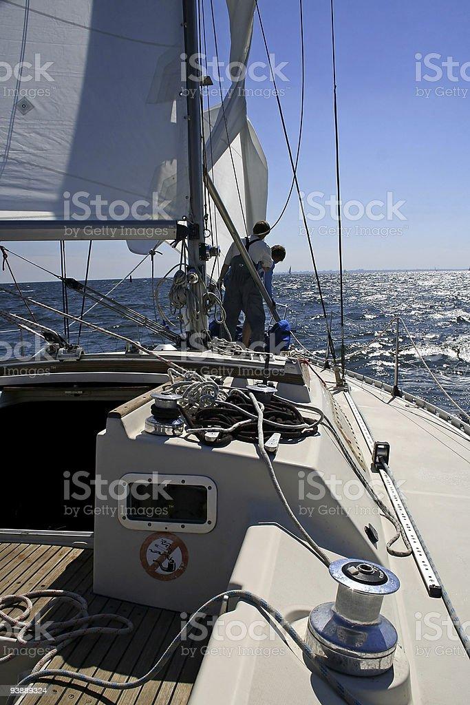 Sailing. Afloat stock photo