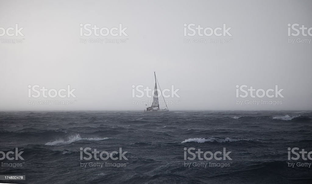 Sailing  and stormy weather stock photo