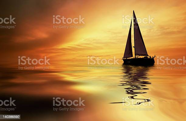 Photo of sailing and sunset
