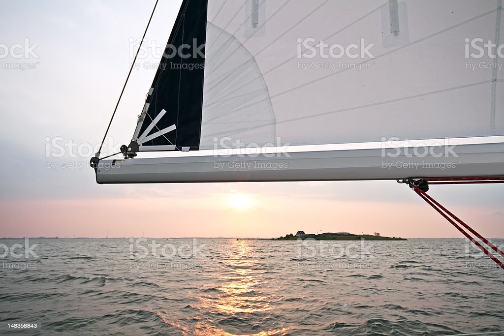 Sailing at Pampus Amsterdam the Netherlands royalty-free stock photo